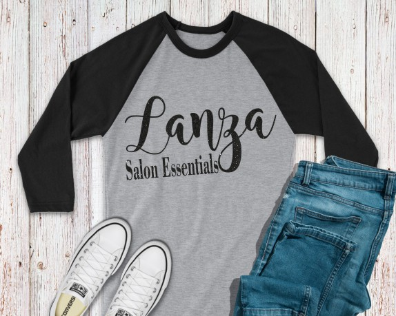 Lanza Salon Essentials Baseball Tee 2
