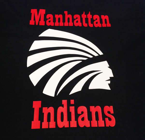 Blanket with Manhattan Indians in Vinyl