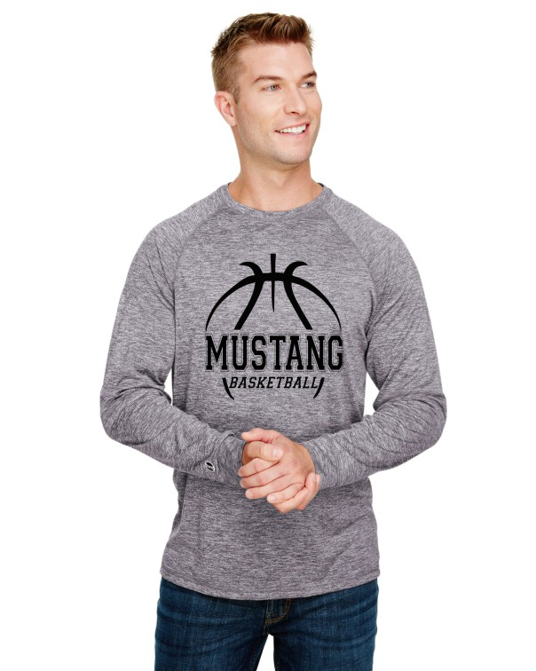 20-12  Mustang Basketball T-Shirt and Long Sleeve Performance