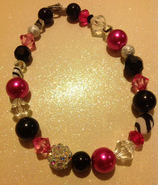 Hot Pink Necklace #23