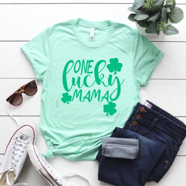 One Lucky Mom St. Patrick's Day T-Shirt