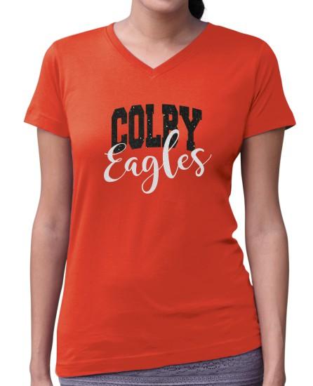 Colby Ladies Glitter V-Neck T-Shirt