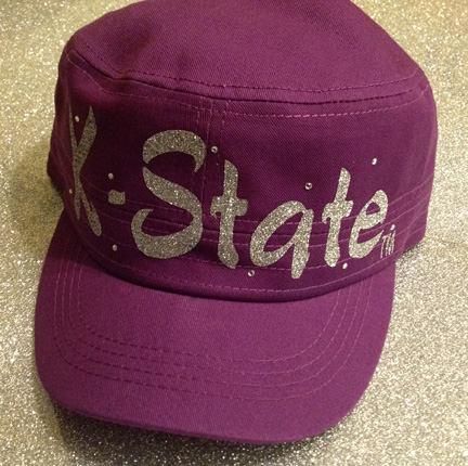 Purple Hat with Silver Glitter K-State