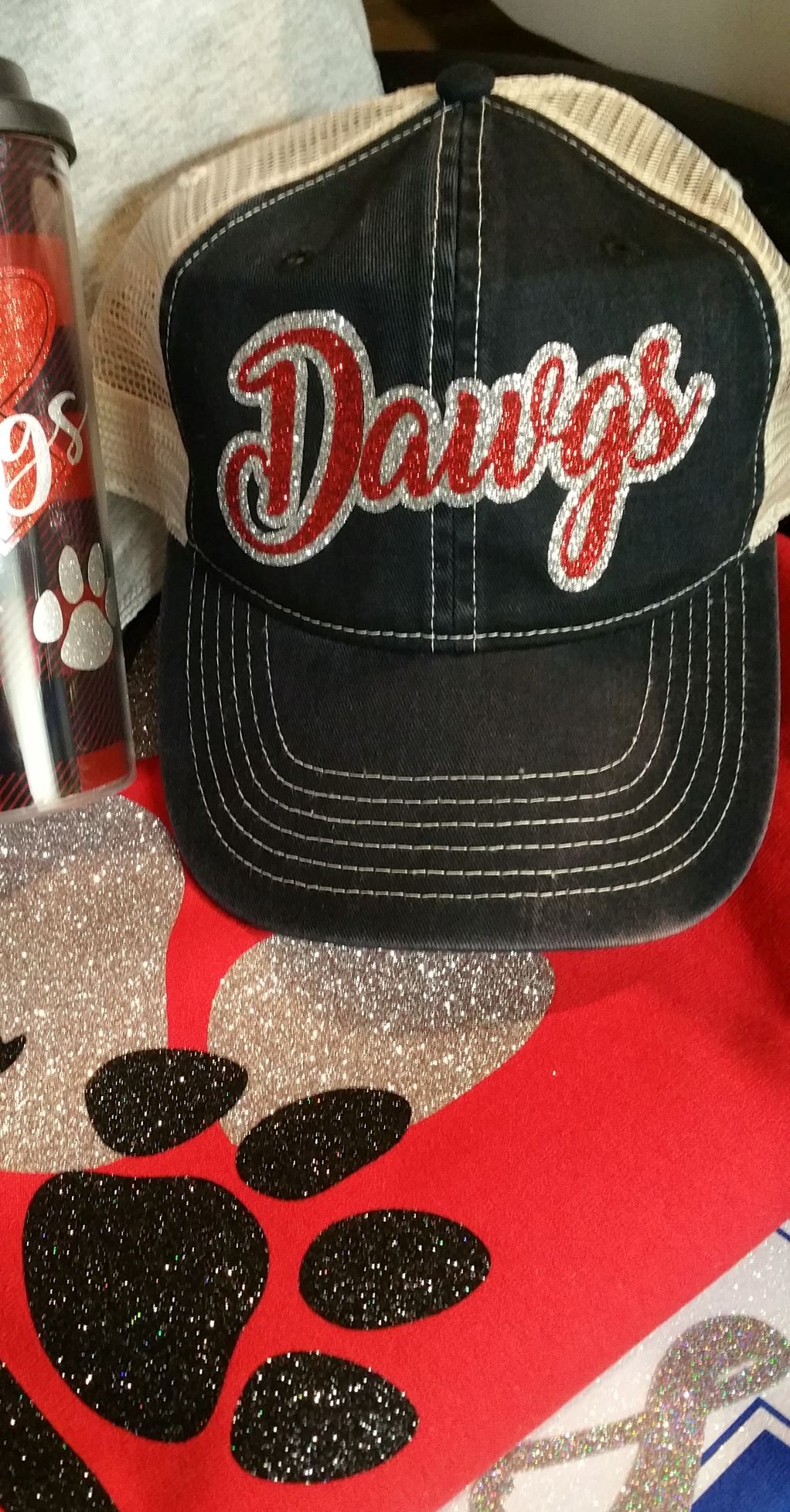 Comfort Colors Glitter Dawgs Cap