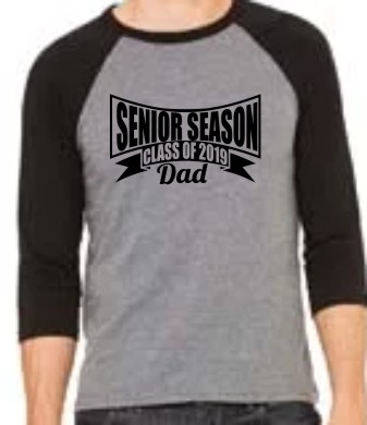 2019 Senior DAD 2 LAT Baseball Fine Jersey T-Shirt