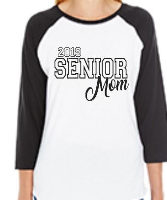 2019 Senior Mom3 LAT Ladies' Baseball Fine Jersey T-Shirt