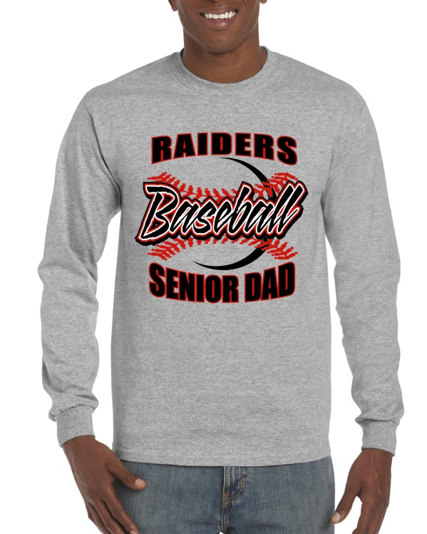 SENIOR DAD 1 Print Gildan Long Sleeve