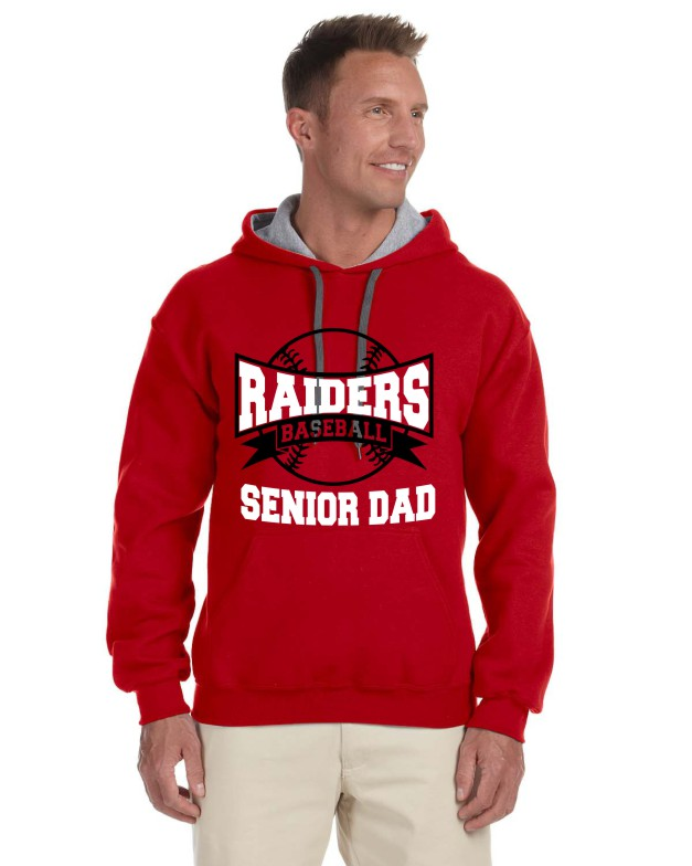 SENIOR DAD 2 ON GILDAN HOODIE