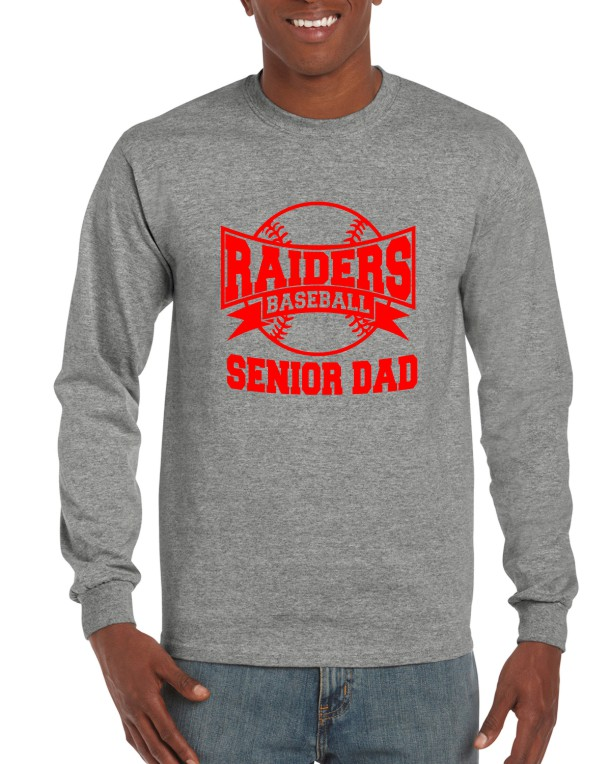 SENIOR DAD 2 ON GILDAN LONG SLEEVE