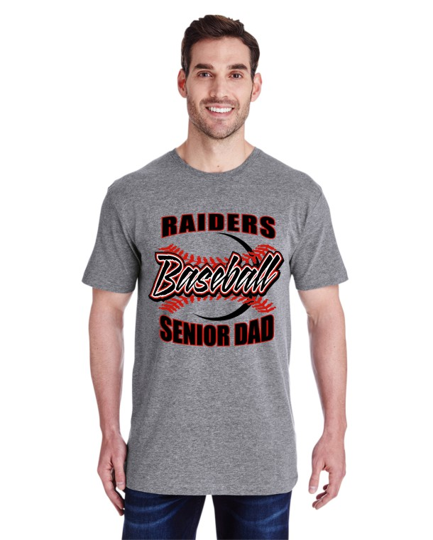 Raider Senior Baseball Dad Short Sleeve Printed Tee