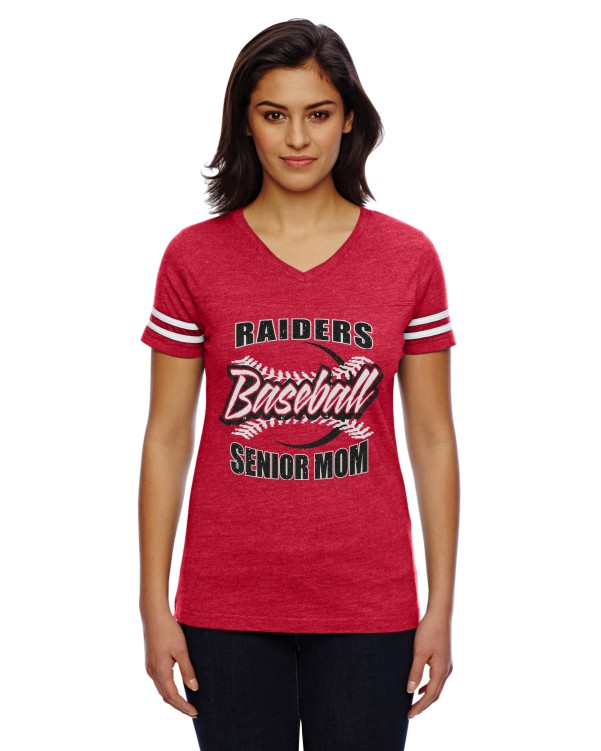 Glitter LAT Ladies' Football Fine Jersey T-Shirt