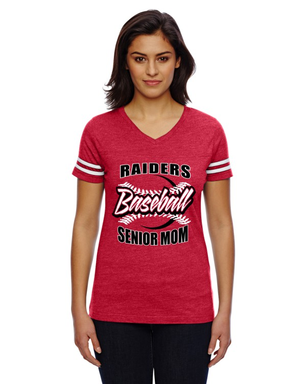 Printed LAT Ladies' Football Fine Jersey T-Shirt