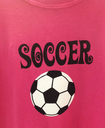 Girls Glitter Soccer Regular T-Shirt
