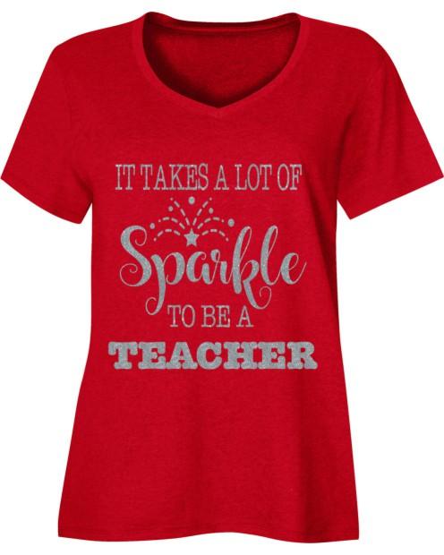 Sparkle Teacher Holiday Shirt
