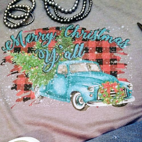 Little Old Christmas Truck in Turquoise
