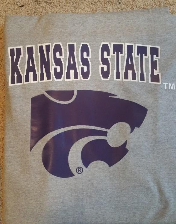 Vinyl Grey Kansas State Blanket