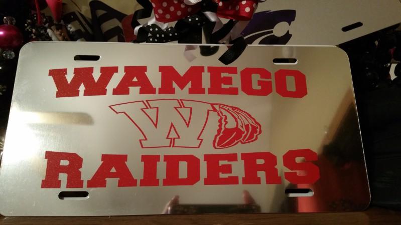 Wamego Glitter Chrome License Plate