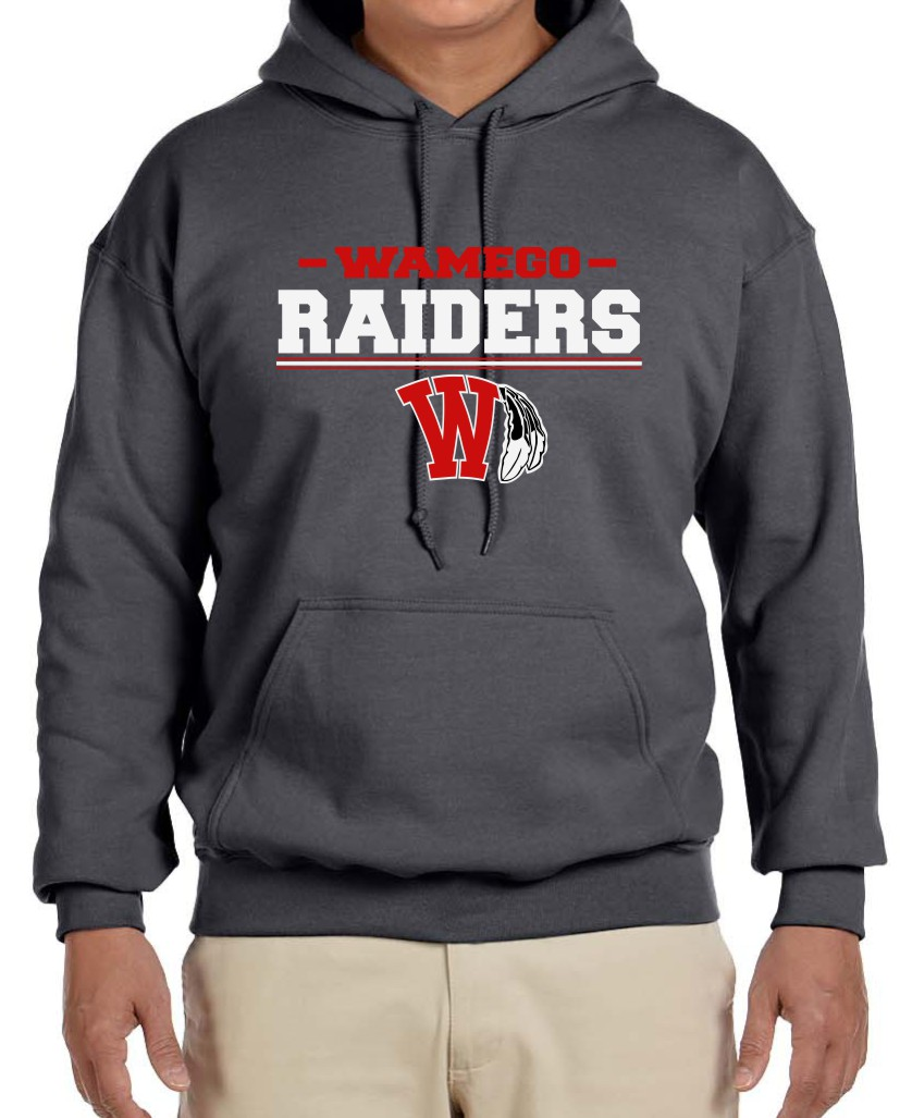 Men's  Raiders Heather Charcoal Hoodie