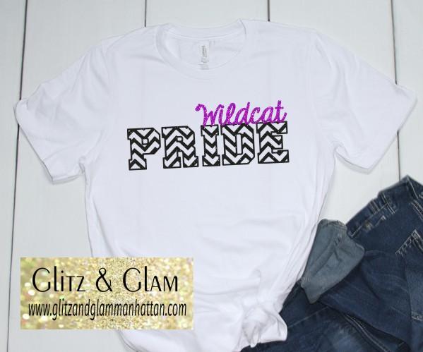 2019 Glitter Wildcat Pride T-Shirt