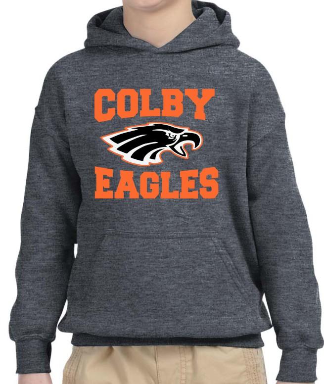 Colby Boys Gildan Vinyl Hoodie