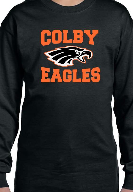 Colby Boys Gildan Vinyl Long Sleeve T-Shirt