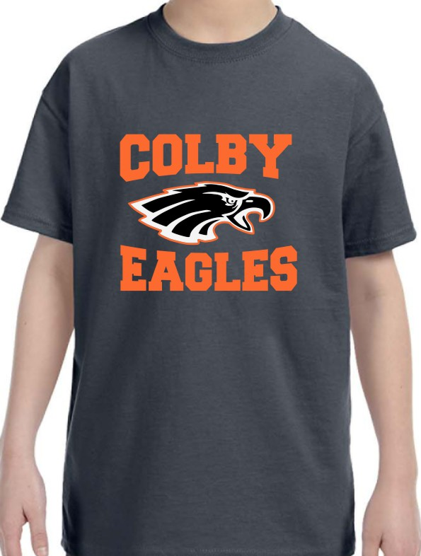 Colby Boys Gildan Vinyl Short Sleeve T-Shirt