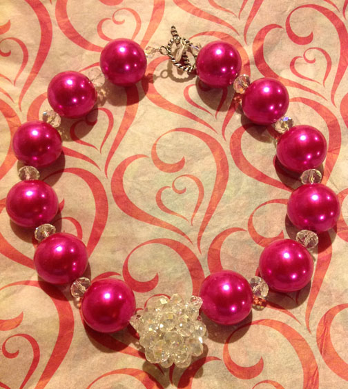 Large Hot Pink Necklace