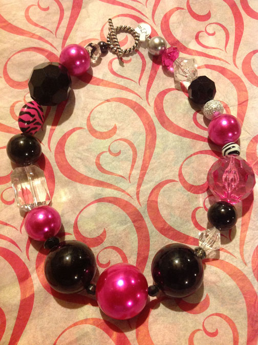 Black and Pink Necklace #19