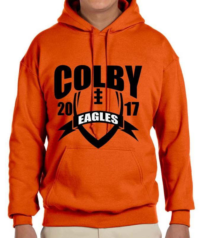 Colby Men's Gildan Vinyl Hoodie