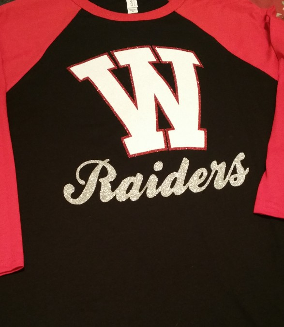 Arched W on Baseball Tee